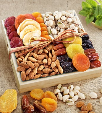 A Spirit Of Peace Fruit & Nut Crate by 1-800-Baskets - Gift Basket Delivery