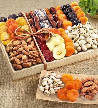 Fruitful Harvest Sympathy Fruit & Nut Crate by 1-800-Baskets - Gift Basket Delivery