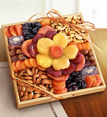 Ever Blooming Sympathy Fruit & Nuts Crate - Ever Blooming Sympathy Fruit & Nuts Crate