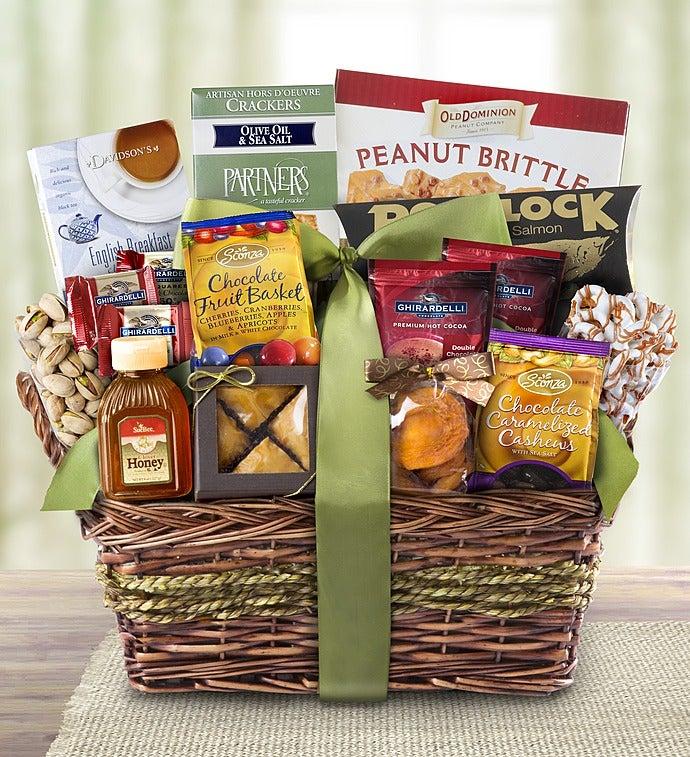 Kosher Gourmet Sweets & Savories Gift Basket - Kosher Gourmet Sweets & Savories Gift Basket