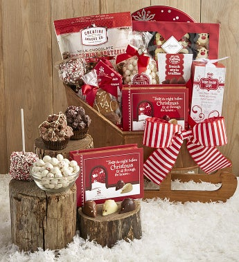 Chocolate Cheer Special Delivery Sleigh Gift - Chocolate Cheer Special Delivery Sleigh Gift