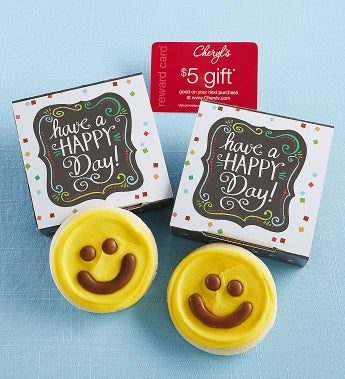 Cheryl's Have A Happy Day Cookie Card - Cheryl's Have A Happy Day Cookie Card