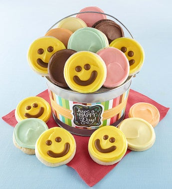 Cheryl's Have A Happy Day Cookie Gift - Cheryl's Happy Day Buttercream Cookie Pail