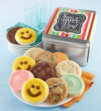 Cheryl's Have A Happy Day Cookie Gift - Cheryl's Have A Happy Day Assorted Cookie Tin