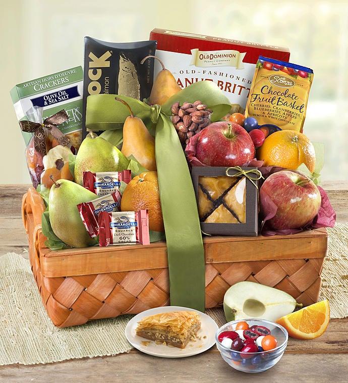 Kosher Fruit & Sweets Gift Basket - Deluxe - Gift Basket Delivery