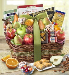 Kosher Fruit & Sweets Gift Basket