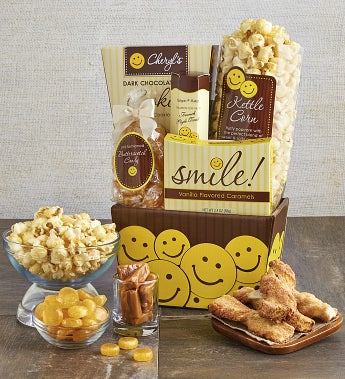 All Smiles Sweets & Treats Gift Basket-All Smiles Sweets & Treats Gift Basket