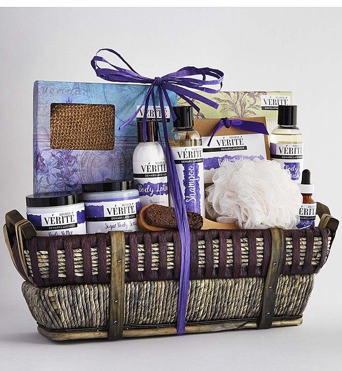 Denarii Lavender Spa Gift Basket-Denarii Lavender Spa Grande Gift Basket