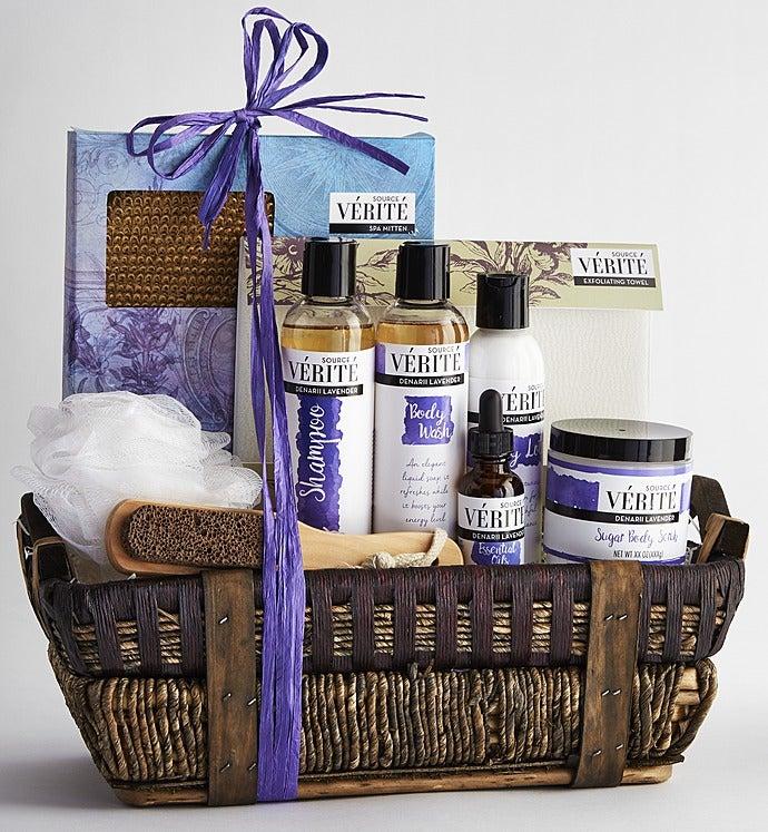 Denarii lavender spa gift basket negle Gallery