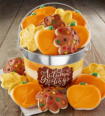 Cheryl's Autumn Greetings Buttercream Bucket