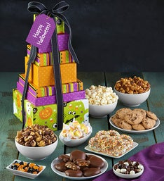 Popcorn Factory Halloween 7 Tier Caramel Tower