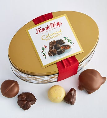 Fannie May Colonial Chocolates Tin