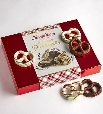 Fannie May Holiday Chocolate Covered Pretzels - Fannie May Holiday Chocolate Covered Pretzels