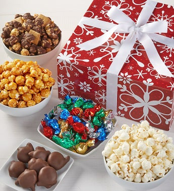 The Popcorn Factory Snowflake Sampler - The Popcorn Factory Snowflake Sampler