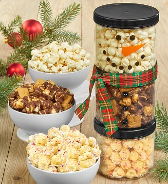 The Popcorn Factory Snowman Stack Set - The Popcorn Factory Snowman Stack Set