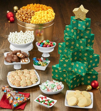 The Popcorn Factory Christmas Tree Tower - The Popcorn Factory Christmas Tree Tower