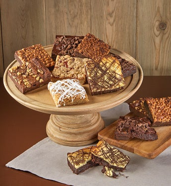 Bake Me A Wish! Assorted Brownies 8 Ea - Gift Basket Delivery