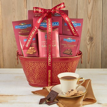 Classic Ghirardelli Gift Basket - Deluxe - Classic Ghirardelli Gift Basket