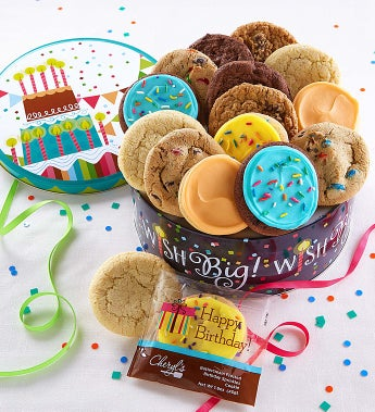 Cheryl's Wish Big! Musical Birthday Gift Tin-Wish Big! Musical Birthday Gift Tin -16Ct Classic