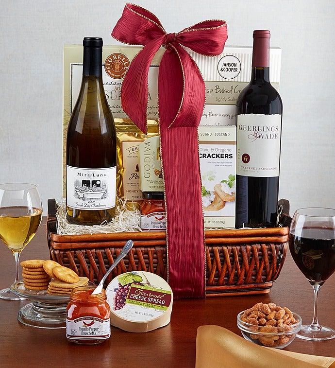 Fruitful Vineyards Wine Gift Basket - Fruitful Vineyards Wine Gift Basket
