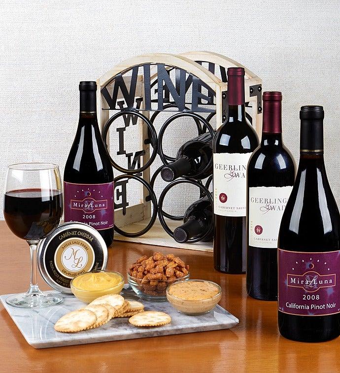 4 Bottle Bistro Wine Rack & Gourmet - 4 Bottle Bistro Wine Rack & Gourmet
