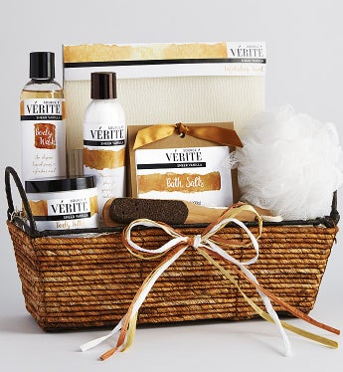 Vanilla Bliss Spa Gift Basket - Vanilla Bliss Spa Gift Basket