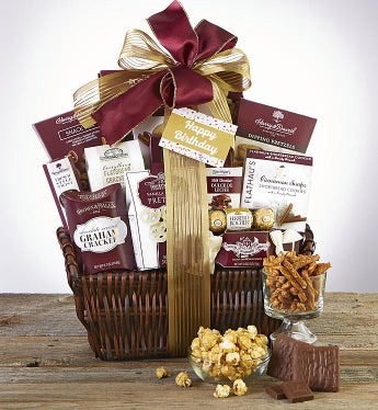 Happy Birthday Deluxe Balsam Gift Basket-Happy Birthday Grande Balsam Gift Basket