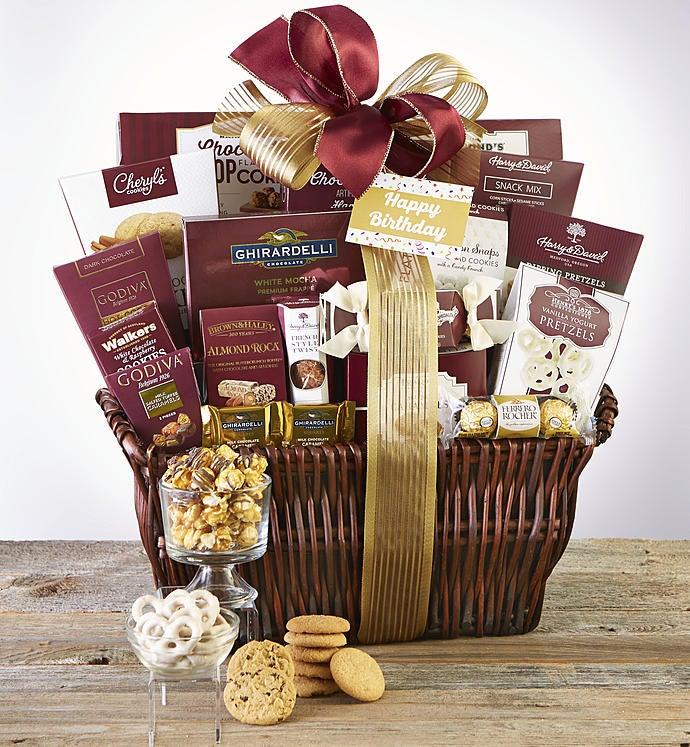 Happy Birthday Deluxe Balsam Gift Basket - Happy Birthday Supreme Balsam Gift Basket