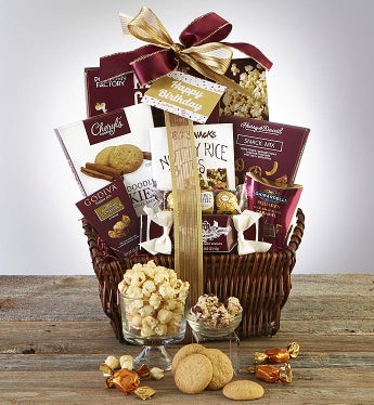 Happy Birthday Deluxe Balsam Gift Basket-Happy Birthday Deluxe Balsam Gift Basket