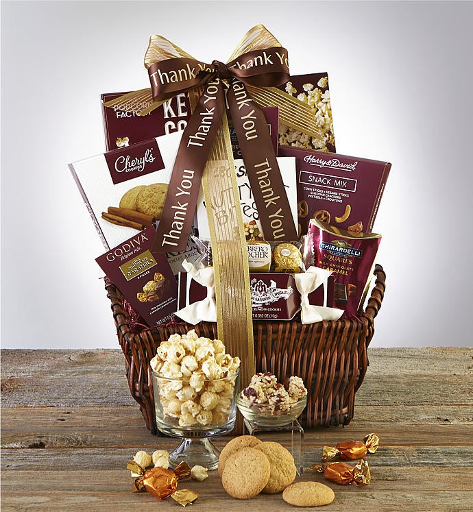 Thank You For Your Business Basket: Thank You! Deluxe Balsam GIft Basket