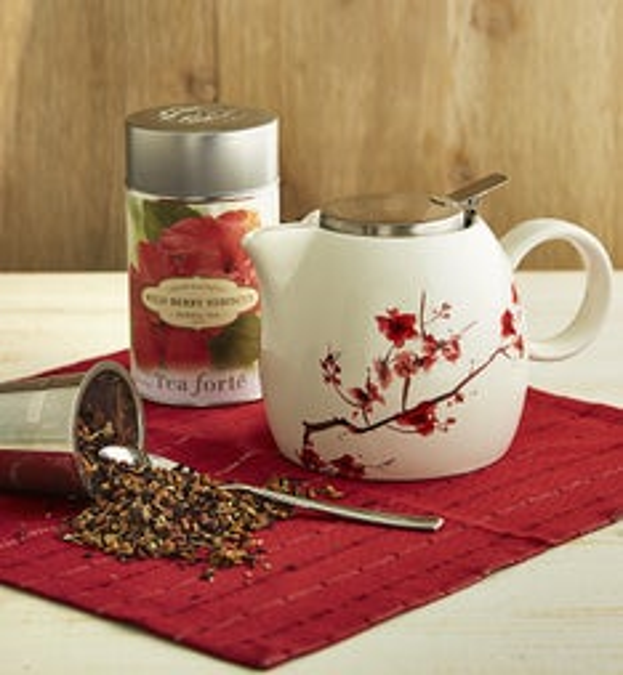Tea Forte Cherry Blossom Teapot  Tea
