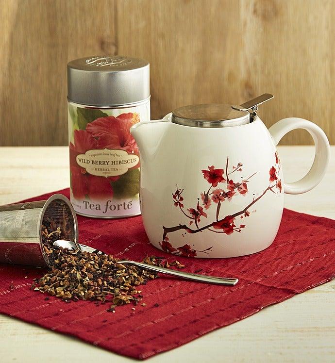 Tea Forte® Cherry Blossom Teapot & Tea-Tea Forte® Cherry Blossom Teapot & Tea