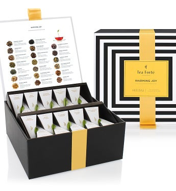 Tea Forte Warming Joy Holiday Tea Collection - Tea Forte Warming Joy Tea Chest - 40Ct
