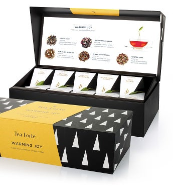 Tea Forte Warming Joy Holiday Tea Collection - Tea Forte Warming Joy Presentation Box - 10Ct