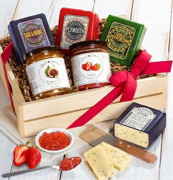 Plymouth Cheese & Just Jan's Spreads Gourmet Gift by 1-800-Baskets
