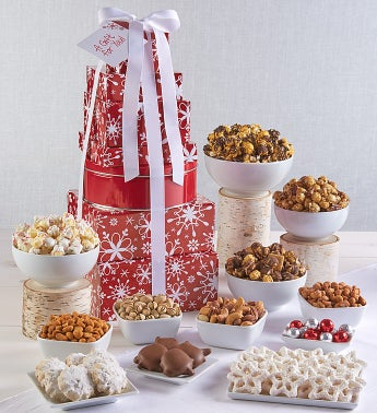 The Popcorn Factory Snowflake Tower - The Popcorn Factory 7 Tier Snowflake Tower