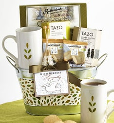In Sympathy Tea Basket featuring Tazo Teas