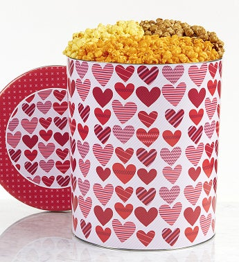 The Popcorn Factory From The Heart 3 Way Tin - The Popcorn Factory From The Heart 3 Way Tin