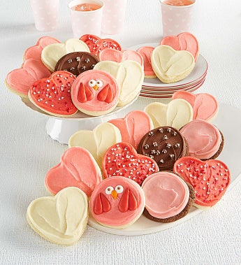Cheryl's Premiere Frosted Valentine's Cookies - Cheryl's Premiere Frosted Valentine's Cookies 24Ct
