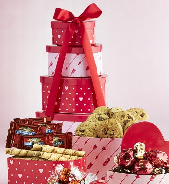 Hearts Afire Valentine Heart Chocolates Tower - Hearts Afire Valentine Heart Chocolates Tower