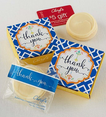 Cheryl's Thank You Cookie Card - Cheryl's Thank You Cookie Card