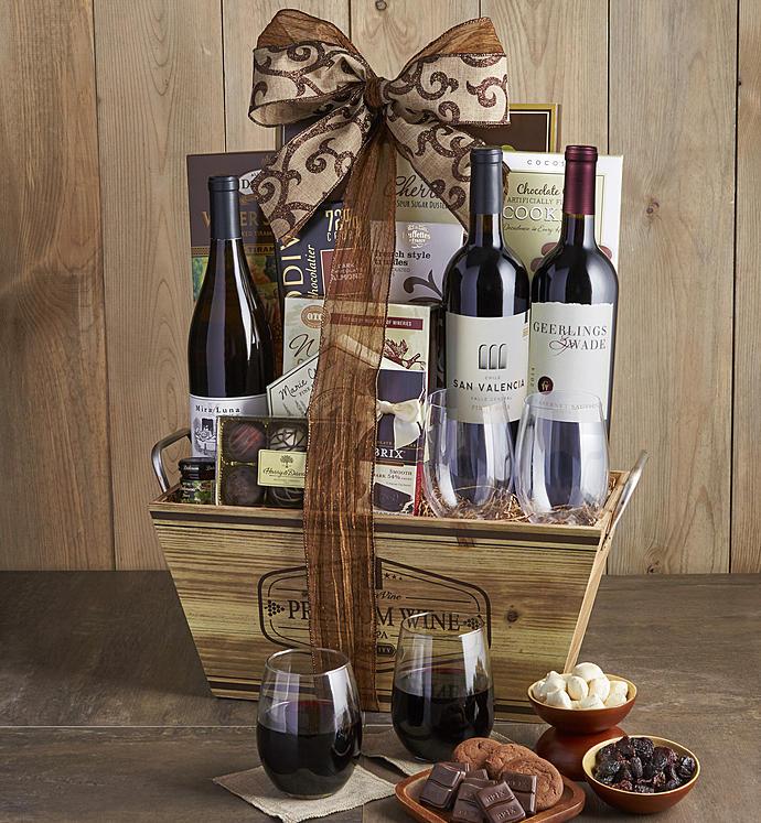 Gourmet Wine Tasting Gift Basket - Gourmet Wine Tasting Gift Basket