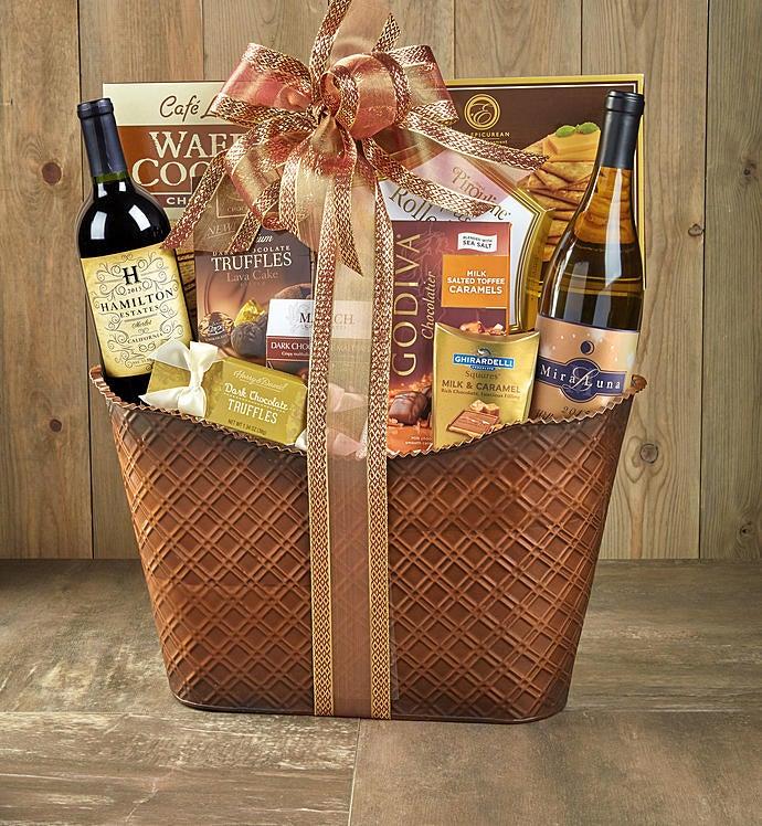 Perfect Pairing Wine & Chocolates Gift Basket - Perfect Pairing Wine & Chocolates Gift Basket