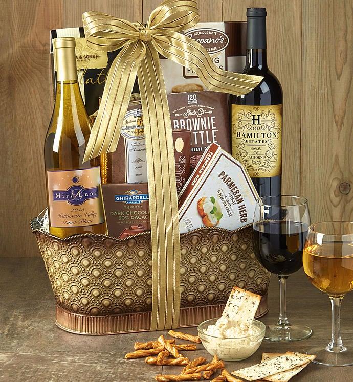 Toast & Celebrate Wine Gift Basket-Toast & Celebrate Wine Gift Basket