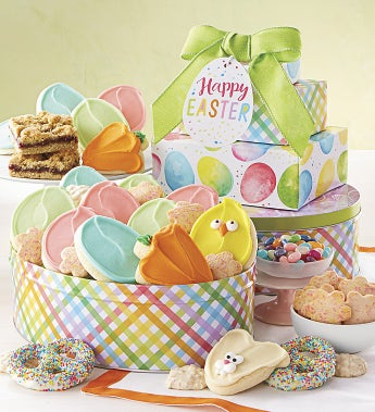 Cheryl's Happy Easter Gift Tower - Cheryl's Happy Easter Gift Tower With Tin