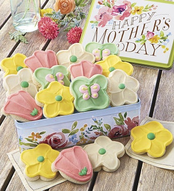 Cheryl's Mother's Day Tin With 16 Cut-Outs - Cheryl's Mother's Day Tin With 16 Cut-Outs