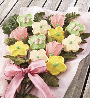 Cheryl's Mother's Day Cookie Flowers - Cheryl's Mother's Day Cookie Flowers