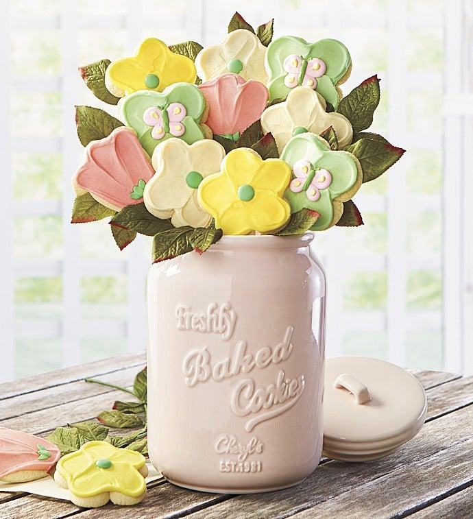 Cheryl's Mother's Day Cookie Flowers & Mason Jar - Cheryl's Mother's Day Cookie Flowers & Mason Jar