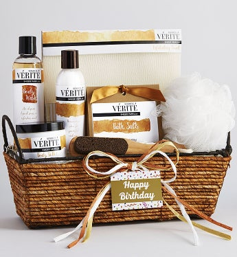 Happy Birthday! Relax And Pamper Her Spa Basket-Happy Birthday! Relax And Pamper Her Spa Basket