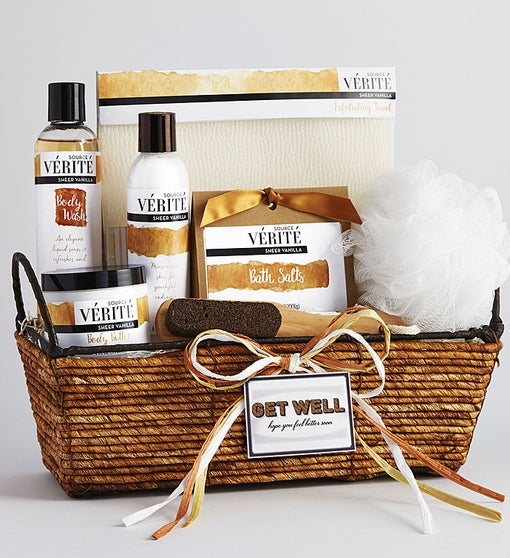 Healing Thoughts Vanilla Bliss Spa Basket